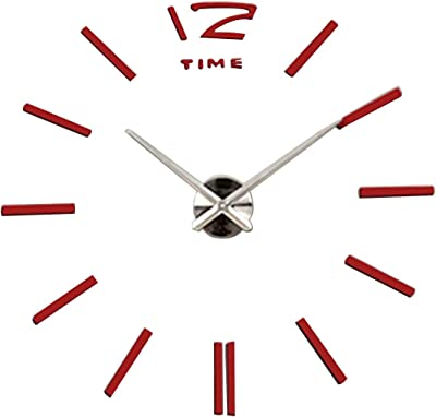 Shuangklei 3D Diy Acrylic Wall Clock Modern Design Slient Hanging Clock For Office Meetting Living Room