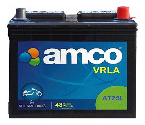 MANSURY DYNUMA BATTERY WORK Amco ATZ5L ATZ-VRLA Black 5 Amps Battery for 2 Wheelers, 12 Volts