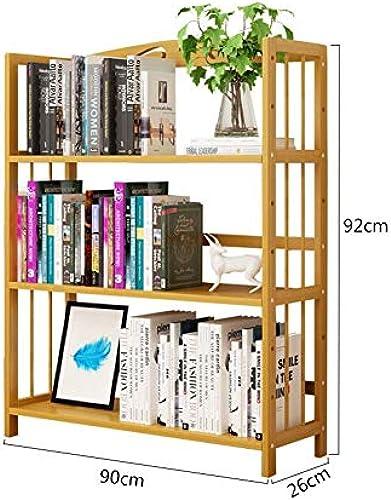 Bücherregale Bücherschrank Bambus Lager Stand Handtuch Gestell Bücher Romane Zeitschriften Badezimmer CJC (Größe   90  26  92cm)