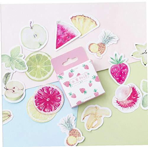 46pcs Fruta Historia Etiqueta De Sellado De Kawaii Decoración Cinta Adhesiva De Los Efectos De Escritorio Diary Estilo Azar Pegatinas