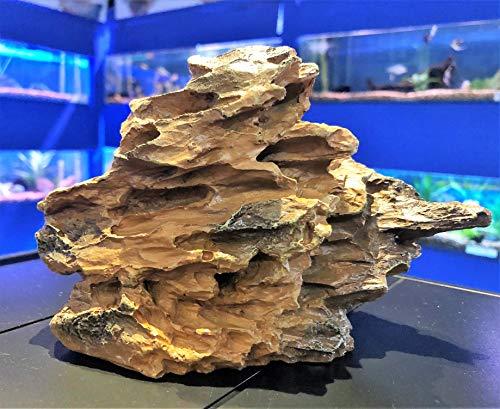 Mezzaluna Gifts Grey & Brown Desert Rock Form Natural Aquarium Fish Tank Ornament