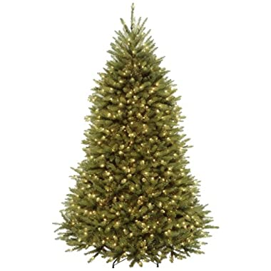 National Tree 7 Foot Dunhill Fir Tree with 700 Clear Lights, Hinged (DUH-70LO)