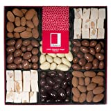 Rita Farhi Chocolate Almonds and Almond Nougat | Sympathy and Get Well Present - Thank You and Corporate Gift - Chocolate Gift Hamper for Men and Woman - Chocolate Coated Nuts in a Gift Box - 990 g