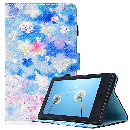 Billionn Case for Amazon Fire HD 10 (7th Gen and 9th Gen, 2017 and 2019 Release) with Auto Wake/Sleep for 10.1 Inch Tablet, Petal Rain