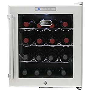 Whynter WC-16S SNO 16 Bottle Wine Cooler, Platinum with Lock,Multi