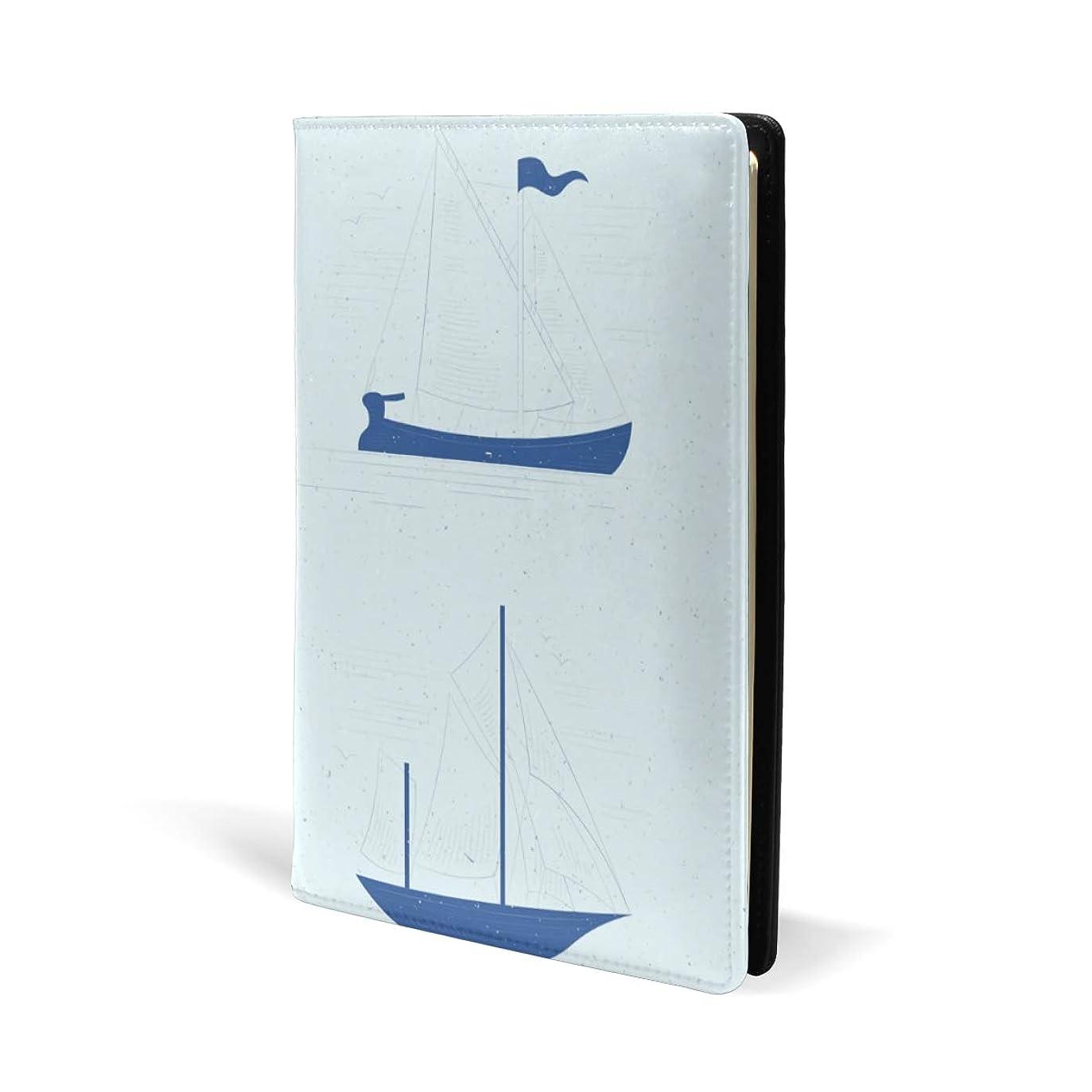 修復臨検法廷ブックカバー a5 船 きれい 航海 文庫 PUレザー ファイル オフィス用品 読書 文庫判 資料 日記 収納入れ 高級感 耐久性 雑貨 プレゼント 機能性 耐久性 軽量