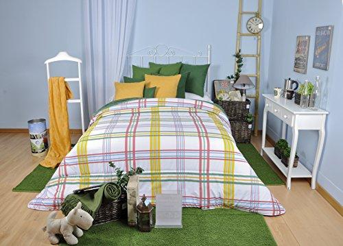 Tiendas Mi Casa - Funda NÓRDICA Birkin, Color Verde - Cama 150 (Disponible en Varios tamaños).