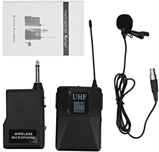 Collar Clip Microphone, One for One Plastic Black Lavalier Microphone, for Singing Speech