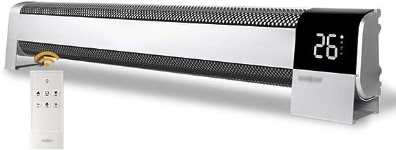 GXFC 2200W Calefactor Eléctrico, Radiador de Convección del Rodapié, Calefacción Auxiliar para hogar, Oficina, baño, con Control Remoto, Temporizador de 24 Horas, Montado en la Pared o de pie