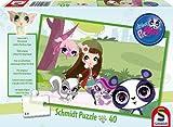 Schmidt Spiele 56062 - Hasbro, Rompecabezas Littlest Pet Shop: Walk to, 40 PC Parque.
