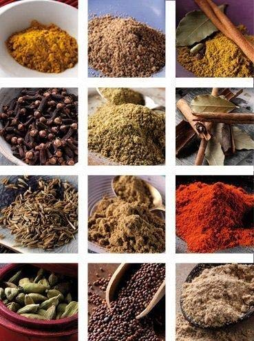 The Three Sisters Organic Indian Spices (13 Pc. Set) Natural, Authentic, and Traditional Flavors for Cookbook Recipes | Turmeric, Cumin, Cardamom, Garam Masala, Coriander