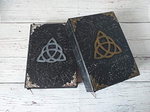 Libro de las sombras, grimorio, libro mágico negro, wicca, diario antiguo