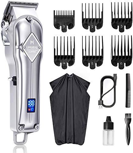 Limural Cortapelos Hombre Profesional & Máquinas Cortapelo, USB Recargable, herramienta de belleza con cable y sin cable con batería de 2500 mAh (para hombres/niños/bebés)