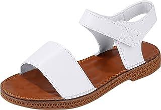 UULIKE Sandales Femme Chaussures Plage Confortable Été Flats Velcro Sandales Mode Respirant Bout Ouvert Été Mode Loisirs A...