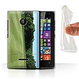 Stuff4 Gel TPU Hülle/Hülle für Microsoft Lumia 532 / Grüner Kurs Muster/Golfsport-Fan Kollektion