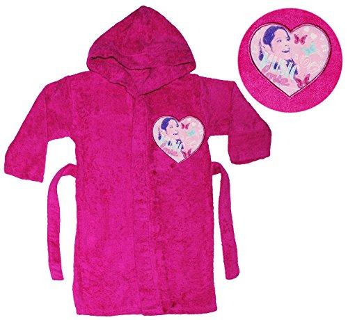 alles-meine.de GmbH Frottee Bademantel -  Disney Violetta  - 5 bis 8 Jahre / Gr. 116 - 140 - 100 % Baumwolle - mit Kapuze - für Kinder / Mädchen - Hert lila / violett - Hausman..