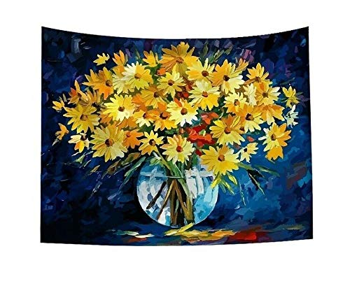 Flower Print Oil Painting Tapestry Wall Hanging Art Home Decor Tapestry Wall Art Hanging Mandala Tapestries dorm room decor 150x100cm