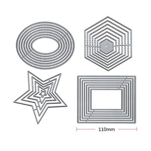 Mothcattl Stanzschablone, rechteckig, Metall, zum Basteln von Karten, für Sammelalben, Album, Papier, Karten, Dekoration