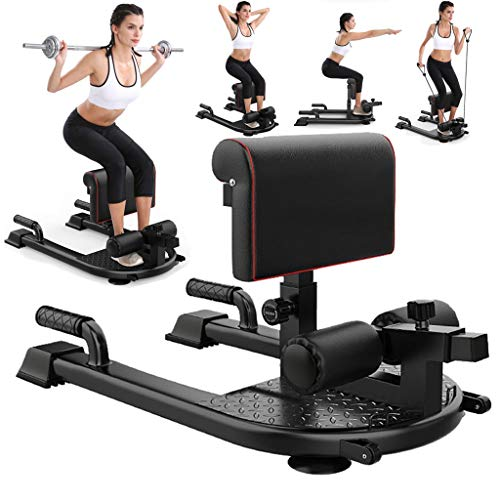 Tengma Girl Squat Machine, 8-in-1 Workout Machine Station Hip Buttocks Leg Strength Training Core Fitness Workout Machine for Sissy Squat, Push-up, Sit-up, Rope Exercise, Home Gym US