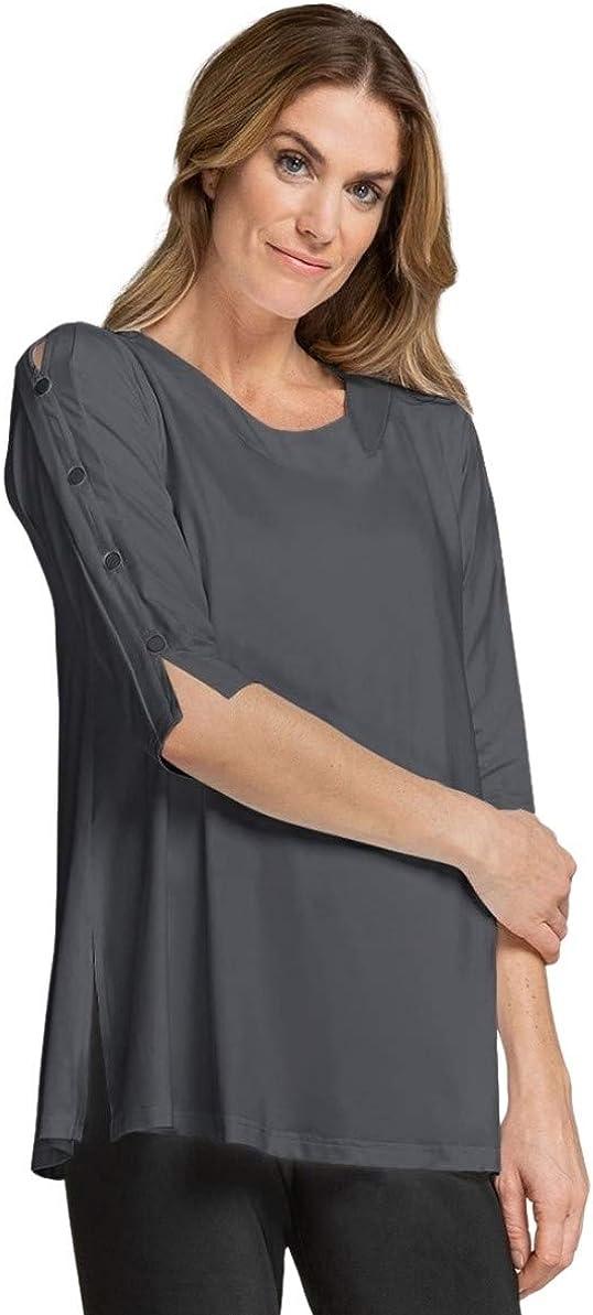 Sympli Womens 3/4 Sleeves, Icon Tunic Style 23152-2