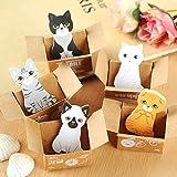Mini Cute Cartoon Kawaii Katzen und Hunde Notizblock Box Haftnotizen für Kinder Geschenke Post It...