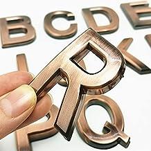 CHSDN Deurnummer 3D A-Z letters en cijfers Modern Plaque House Numbers 0 tot 9 Hotel deur nummerplaat Home adres straat nu...