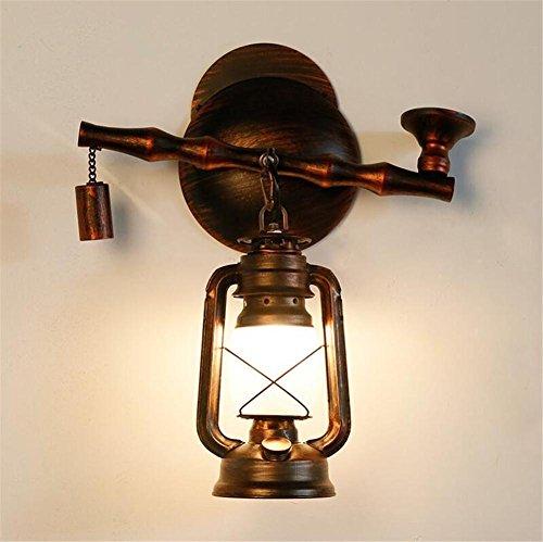 Atmko®Applique Murale Industriel Vintage Wall Light Tabac Pipe Lampe murale en fer Lampe en kérosène pour salon Couloir de chambre Antique Design Applique Murale Applique Murale Applique Murale Atcoe