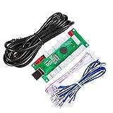 EG STARTS アーケードゼロ遅延USBエンコーダー - PCゲームコントローラー アーケードDIYキット パーツ メイムジャマ&その他PCゲーム用 (5ピンジョイスティック+ハップスタイルプッシュボタン)