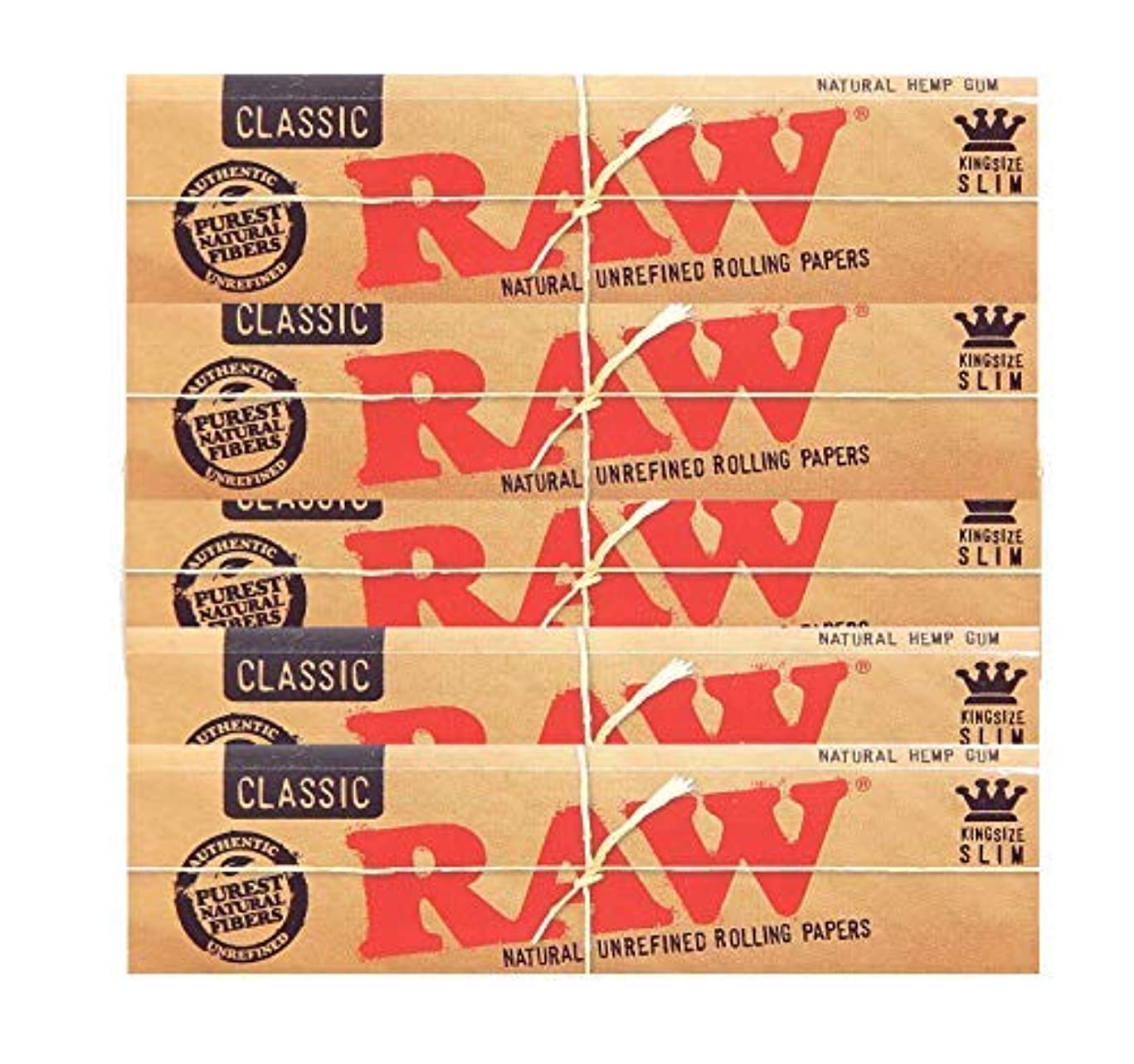 Raw Classic King Size Slim Rolling Paper 5 Packs