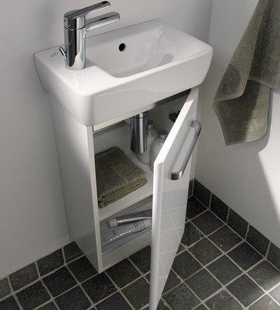 Keramag Renova Nr. 1 Comprimo NEU Handwaschbecken-Unterschrank 35 cm Hellgrau hochglanz, Hellgrau matt