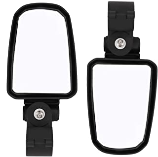 UTV Rear View Side Mirror, Convex Mirror and Adjustable Mount with 1.75