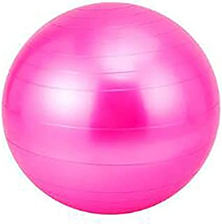 LANGMAN Stability Exercise Ball 65cm Yoga Balance Ball Great for Yoga Pilates Abdominal Workout Fitness Ball and Office Chair (Hot Pink)