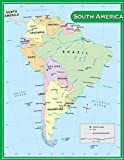 Teacher Created Resources South America Map Chart, Multi Color (7656)