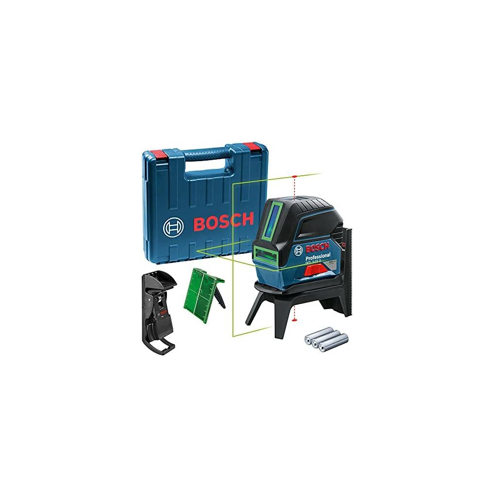 Bosch Professional Laser Combiné en Croix GCL 2-15 G (Laser Vert, pour l'intérieur, avec points d'aplomb, Portée : 15 m…