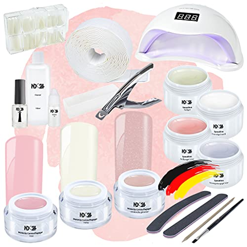 Nagelstudio Starter Set LED Premium Mit Allem Zubehör + MakeUp Gele Made in Germany