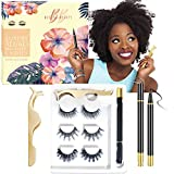 BBBeyond Beauty | Luxury 3D/6D Magnetic Eyelashes with Eyeliner Kit | Faux 3D Mink Lashes | 3 eyelashes packs| Waterproof Magnetic Eyeliner