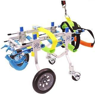 Verstelbare hondenrolstoel XXS-XL maat achterbenen revalidatie voor gehandicapte kleine hond/hondje/puppy, hondenkarren 4 ...