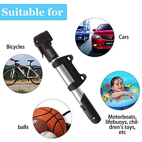 Mini Fahrradpumpe, Mini Bike Pumpe, Tragbare Fahrradpumpe, Tragbar, Kompakt, Langlebig, Schnell Und Einfach Zu Bedienen, Halterung für MTB/BMX/Rennrad/Mountainbike - 4
