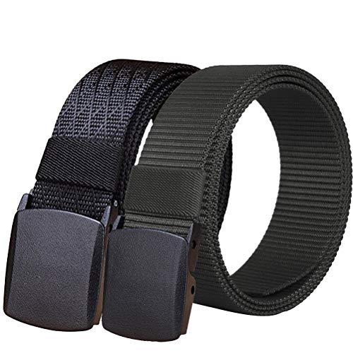"""Fairwin 2 Pacchi Cintura Tattica in Tela in Stile Militare da Uomo, 1.5"""" Tessuto in Nylon Cintura con Fibbia in Confezione Regalo"""