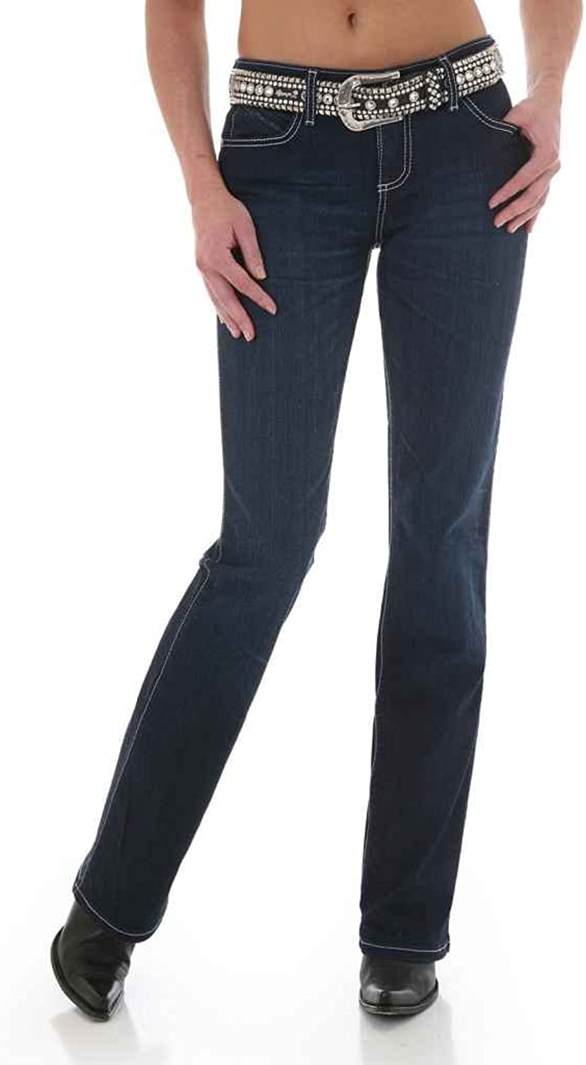 Wrangler Women's Q Dark Wash Ultimate Riding With Booty Up Technology Jeans