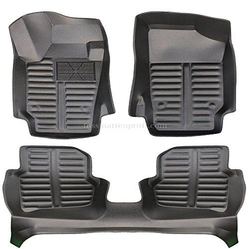 fussmattenprofi.com Tapis de Sol Voiture 3D Premium sur Mesure Adapté pour VW Polo 5 Année de Construction 2008-2017