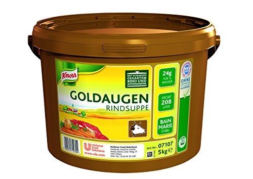 Knorr Goldaugen Rindsuppe (vielseitig anwendbare Rinderbrühe, authentischer Geschmack und perfekter Suppenspiegel) 1er Pack (1 x 5 kg)