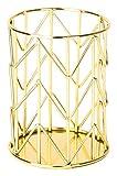 U Brands Pencil Cup, Wire Metal, Gold - 897U06-24