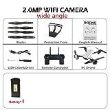 Zantec sg7002MP rc Drone et Contrôle avec Caméra WiFi FPV Pliable sans Tête vs e58 200w/Fotocamera Grandangolare