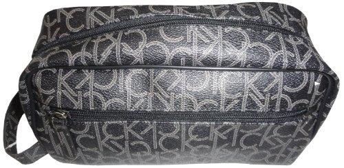 Calvin Klein CK-Logo Kosmetik-Tasche, travel bag braun