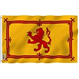 Anley Fly Breeze 3x5 Foot Scotland Rampant Lion Flag - Vivid Color and Fade Proof - Canvas Header and Double Stitched - Scottish Rampant Lion Flags Polyester with Brass Grommets 3 X 5 Ft