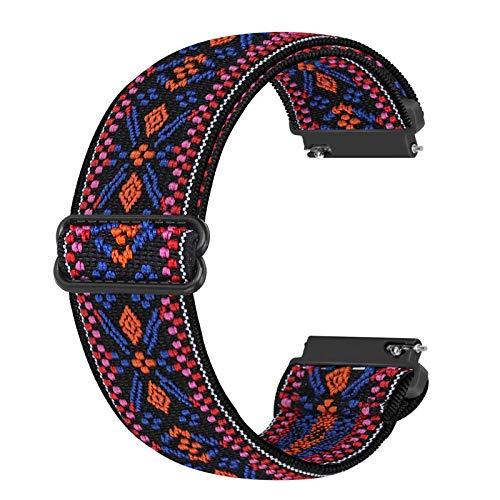 Cinturino di ricambio elastico Ecogbd 22mm compatibile con Galaxy Watch 46mm / Galaxy Watch 3 45mm / Gear S3 / Huawei Watch GT2 46mm, cinturini in nylon tessuto morbido per uomo (Bohemia r)