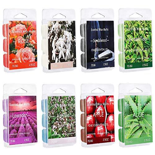liaobeiotry Ambientador de cera perfumada con aroma de manzana, aloe vera, t verde, sndalo, rosa, vainilla, temtica de Halloween, decoracin, cosplay