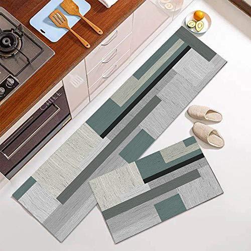 Amcerd Teppich Läufer, Teppich Flur Modern, Modern rutschfest Waschbar für Wohnzimmer Flur Büro Schlafzimmer Küche - 40x100cm