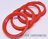 CRK 4X Zentrierringe 67,0 x 57,1 mm rot Felgen Ringe Made in Germany